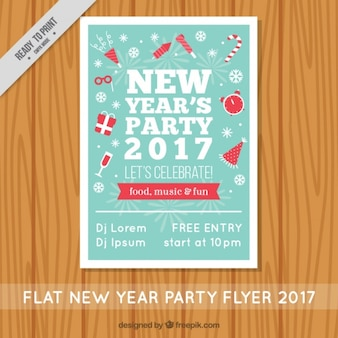 Vintage brochure of new year's party