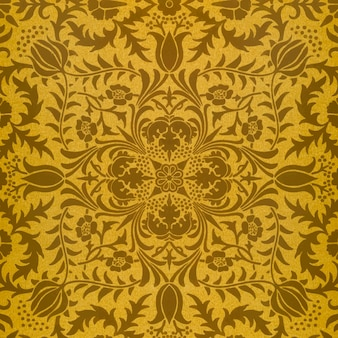ヴィンテージ茶色の花のパターンベクトル