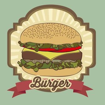 Vintage burger