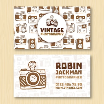 Photographer business card vectors photos and psd files free download vintage business card for photographer reheart Gallery