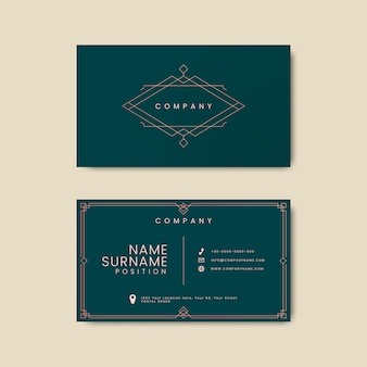 Vintage business card letterpress mockup