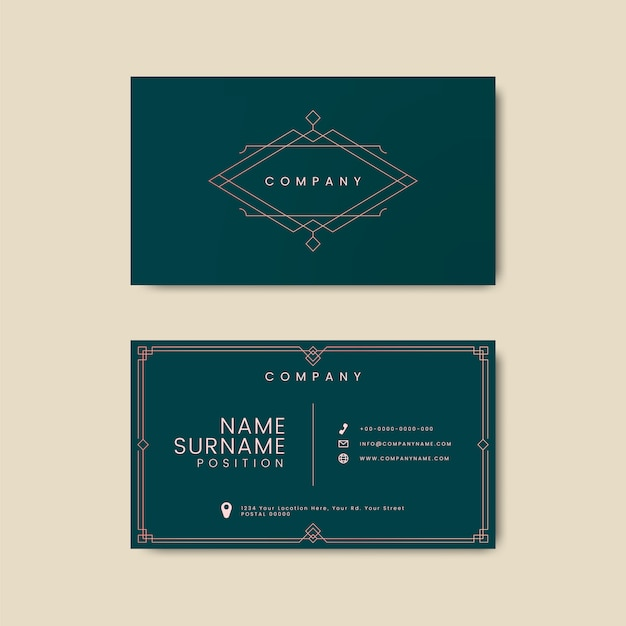Vintage business card letterpress mockup
