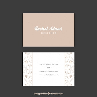 Vintage business card with mandala