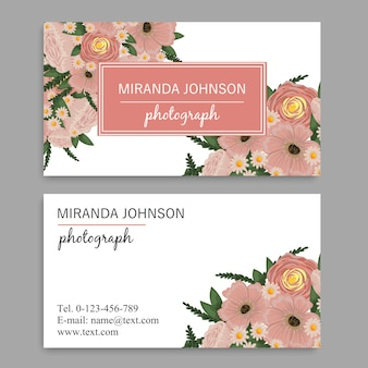 Vintage business and visiting card