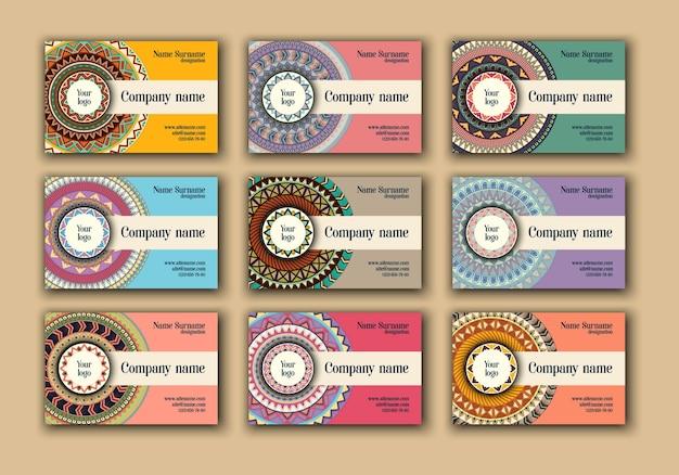 Набор визитных карточек для винтажных визиток