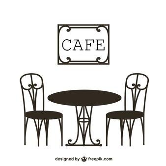 Vintage стол кафе