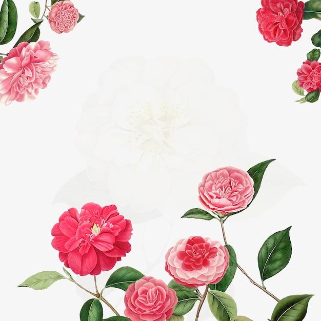 Vintage camellia frame
