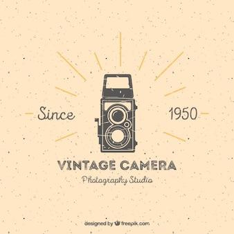 Vintage camera studio logo Premium Vector