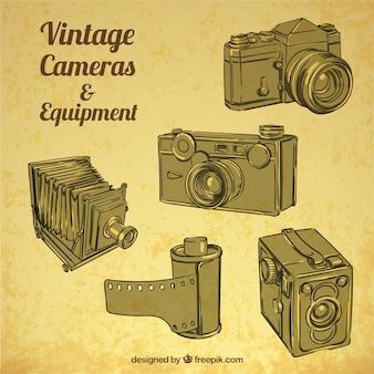 Старинные камеры и оборудование
