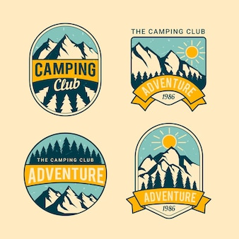 Vintage camping & adventures badges