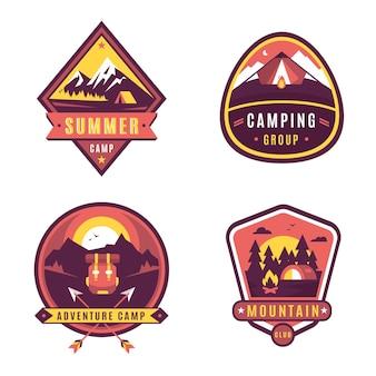 Vintage camping & adventures badges