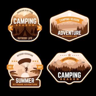 ヴィンテージのキャンプと冒険のバッジ