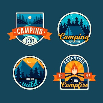 Vintage camping badges collection