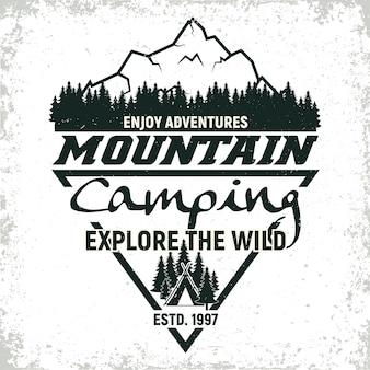 Винтажный кемпинг или дизайн логотипа туризма