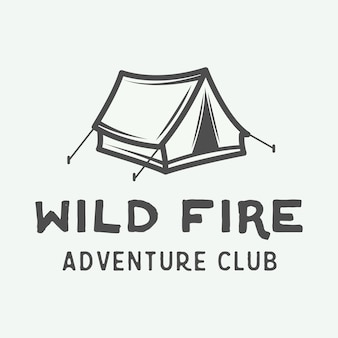 Vintage camping outdoor and adventure logo