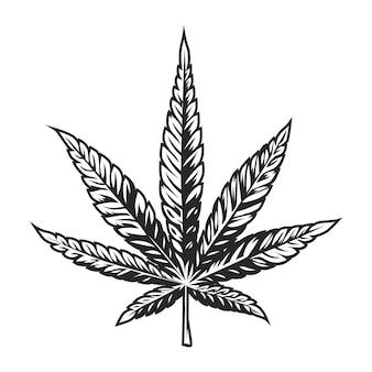 Vintage cannabis leaf