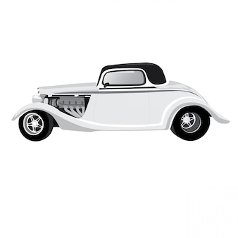 Vintage car illustration isolated on white background