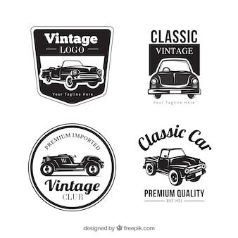 빈티지 자동차 로고 컬렉션