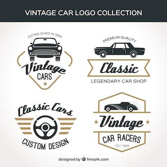 Коллекция логотипа vintage car