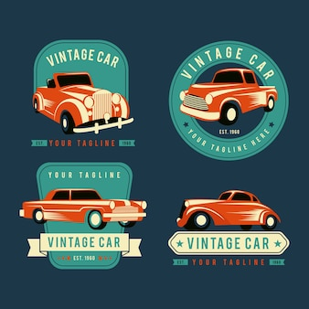 Vintage car logo collection