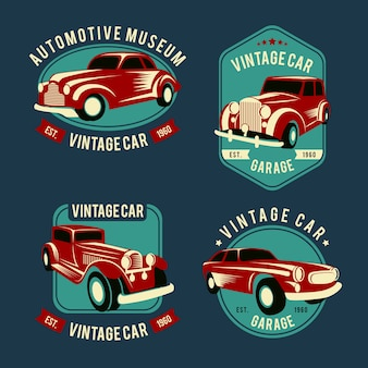 Vintage car logo pack