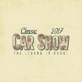Vintage car show typography