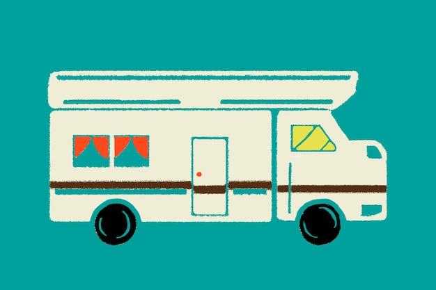 輸送用のビンテージキャラバン車両グラフィック