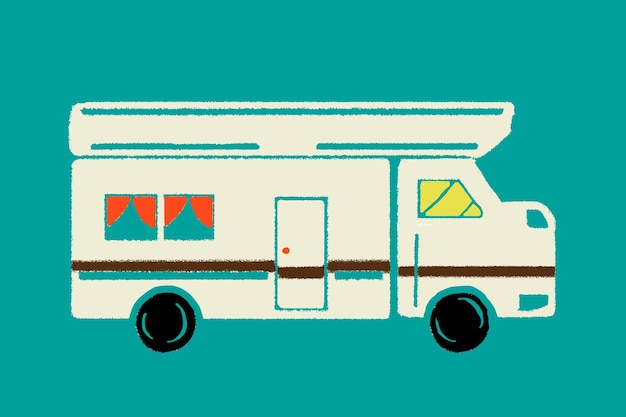 Vintage caravan vehicle graphic  for transportation