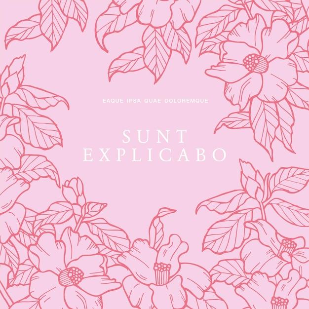 Camelia 꽃 빈티지 카드