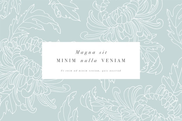 국화 꽃 빈티지 카드