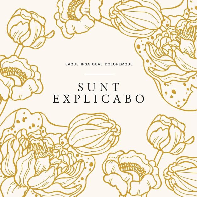 Винтажная открытка с цветами кувшинки цветочным венком цветочная рамка для цветочного магазина с дизайном этикеток fl ...