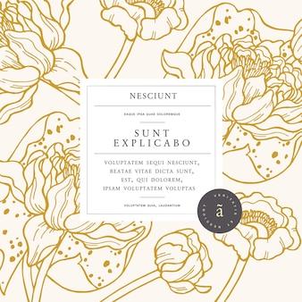 Винтажная открытка с цветами кувшинки.
