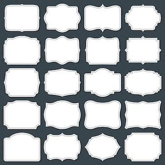 Vintage cardboard blank labels