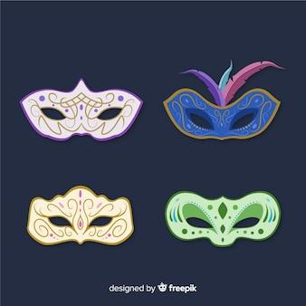 Vintage carnival mask collection