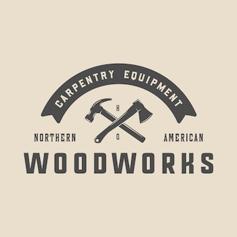 Vintage carpentry emblem