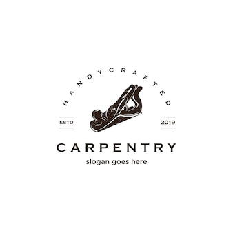 Vintage carpentry logo
