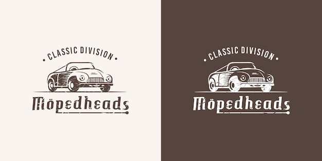 Vintage cars with retro classic car images