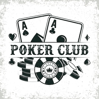 Винтажный дизайн логотипа казино
