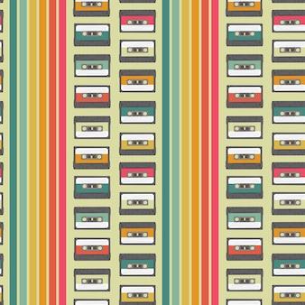 Vintage cassette pattern
