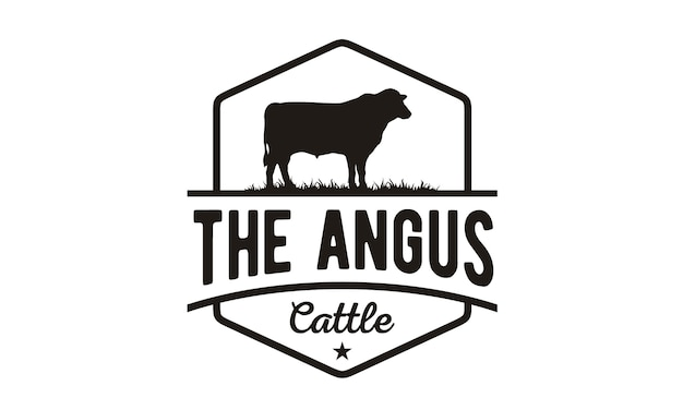 Vintage cattle / beef logo design