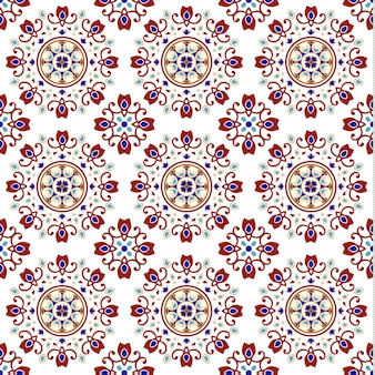 Vintage ceramic tile seamless pattern with colorful patchwork