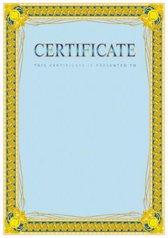 Vintage certificate blank template