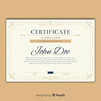 Modello di certificato d'epoca