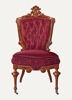 Vintage chair vector illustration, remixed from the artwork by frank wenger