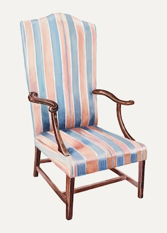 Vintage chair vector illustration, remixed from the artwork by henry granet