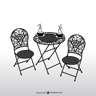 Vintage chairs and coffee