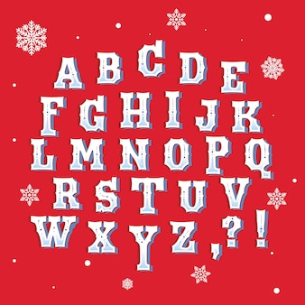 Vintage christmas alphabet set