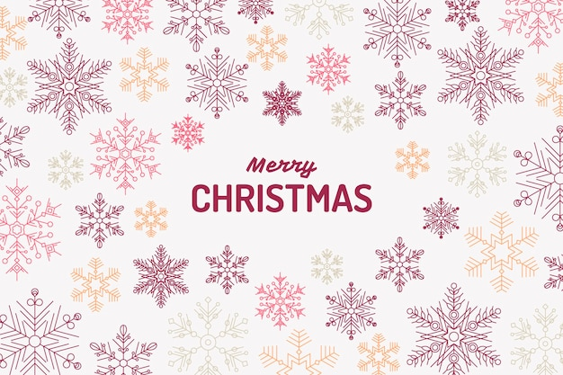 Vintage christmas background with snowflakes