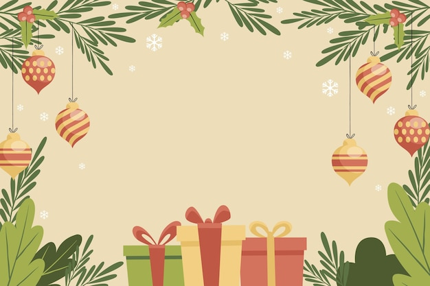 ヴィンテージのクリスマスの背景
