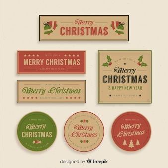 Vintage christmas badge collection